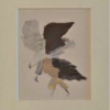 Gekommen mit 3 Flügeln, 1993 huile sur carton