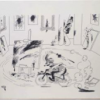 Sans légende, 1988, agrandissement d'un dessin de Dubout sur toile
