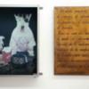 Yuppy-Puppy, 1989, caisson lumineux, plaque de cuivre
