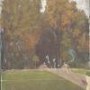 Healing Painting (Le Parc), 2015 huile sur tableau trouvé 73 x 54 cm